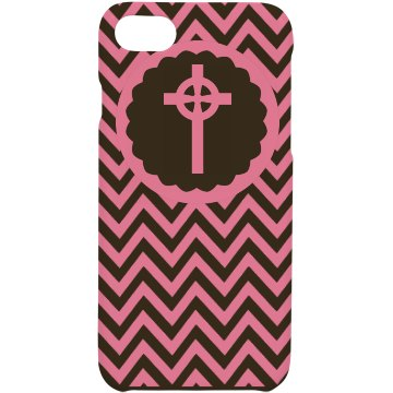 Pink Cross iPhone Case