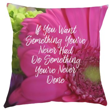 Pink Daisy Motivational Pillow Cover