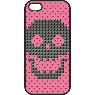 Pink Hearts And Skull
