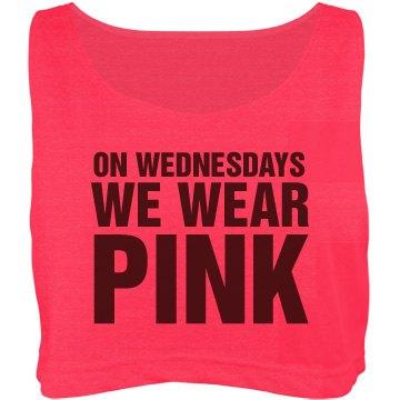 Pink On Wednesdays Crop