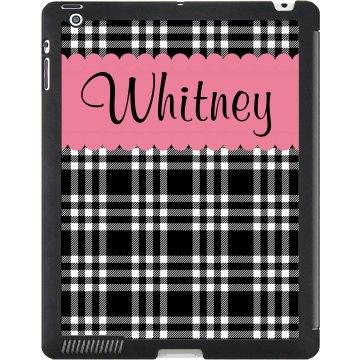 Pink Stripe Name Case