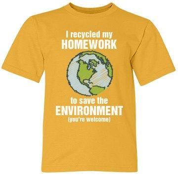 Recycle My Homework