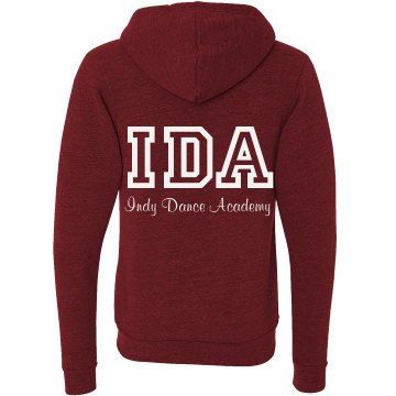 Red Adult Zip Up Sweatshirt