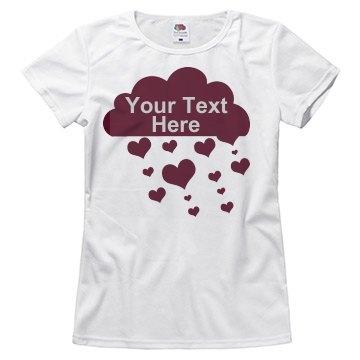 Rhinestone Text Love Rain
