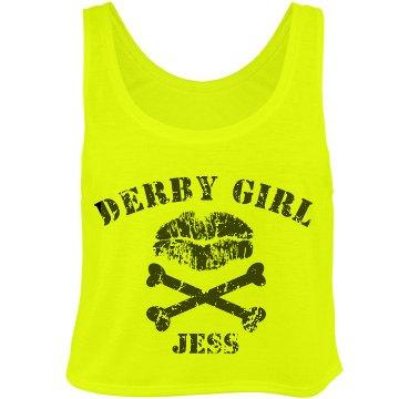 Roller Derby Girl Crop