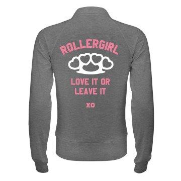 Roller Derby Girl Workout Jacket