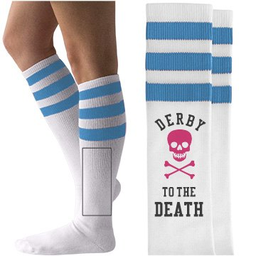 Roller Derby To the Death Socks