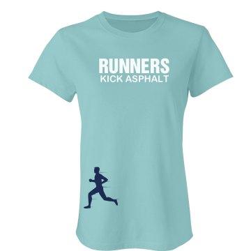Runners Kick Asphalt