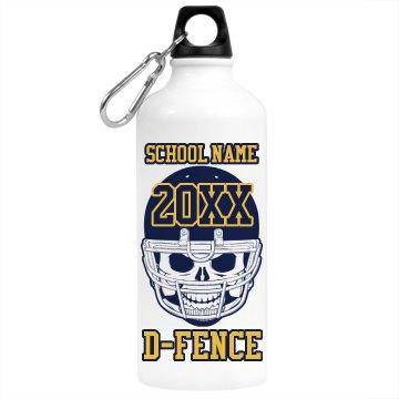 School Football Bottle
