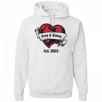 Scroll And Heart Hoodie