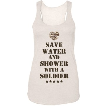 Shower With a Soldier