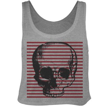Skull Stripe Crop Top