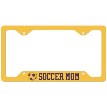 Soccer Mom Plate Cover