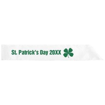 St. Patty's Day Sash