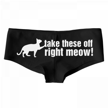 Take These Off Meow
