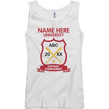 University Softball Tank