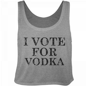 Vote For Vodka Distressed