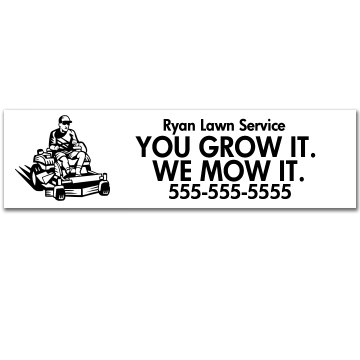Yard Business Sticker
