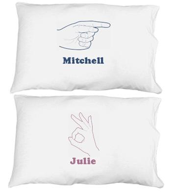 His Finger Pillowcase