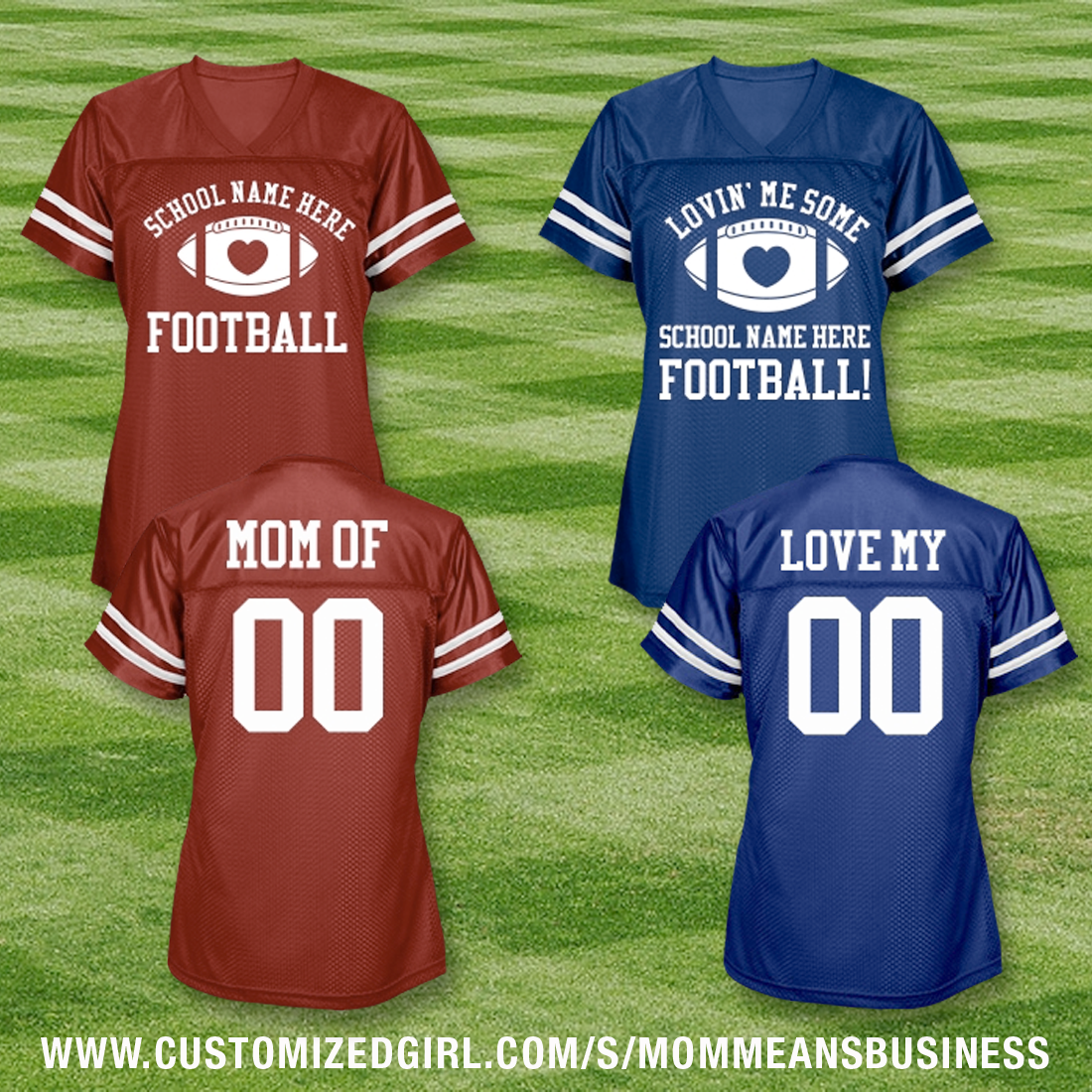 Football moms custom jerseys with name number this mom for Custom football jersey shirts