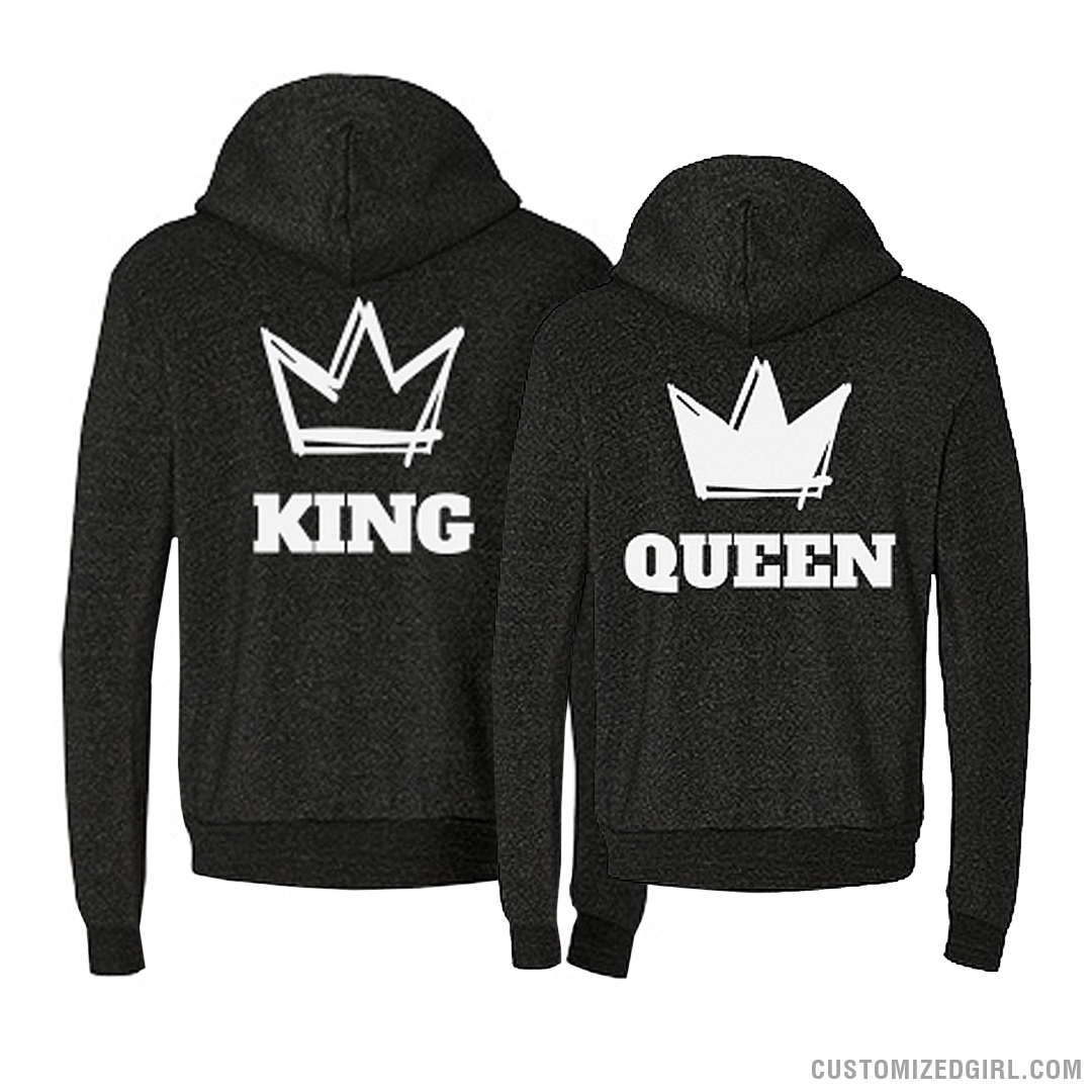 king and queen couple hoodies 1. Black Bedroom Furniture Sets. Home Design Ideas