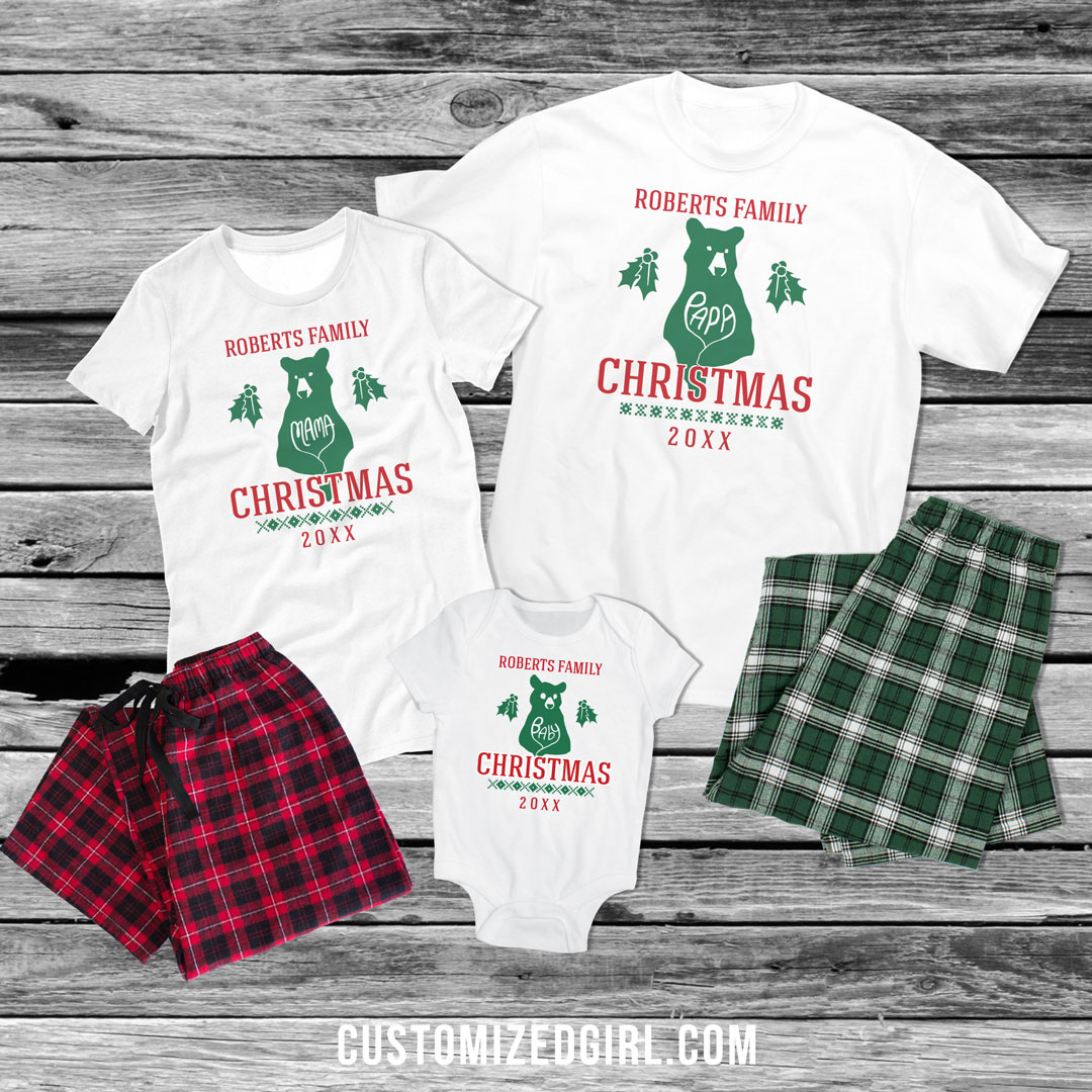 156b07bbef Matching Christmas Pajamas For The Whole Family - CustomizedGirl Blog