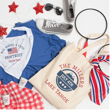 4th Of July Accessories Tote Bags