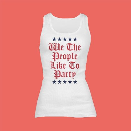 4th Of July Junior Fit Tank Tops