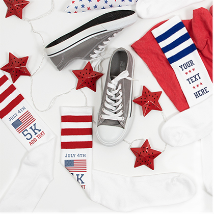 4th Of July USA Knee High Socks
