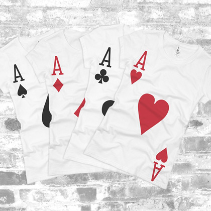 Custom Aces Cards Costume Shirts