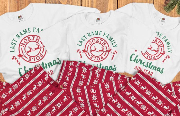 Custom Christmas Pajamas For The Whole Family