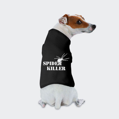 Custom Dog Shirt Spider Killer