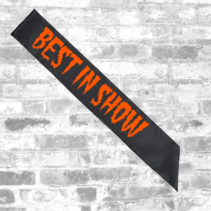 Custom Halloween Best In Show Sash