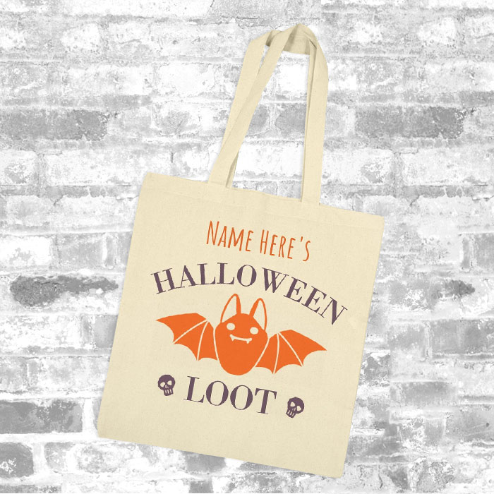 Custom Halloween Loot Tote