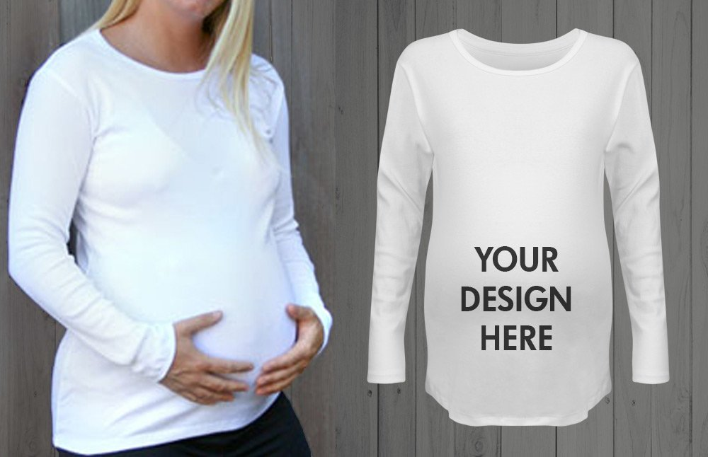 Custom Maternity Shirt Long Sleeve