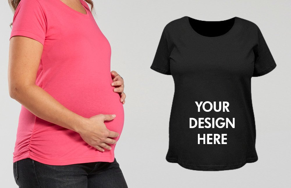 Custom Maternity Shirt Short Sleeve