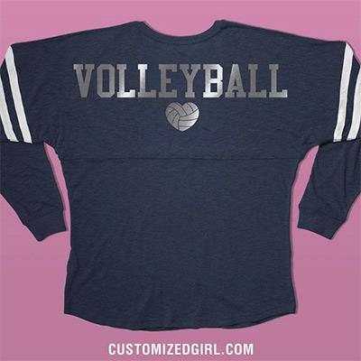 Custom Metallic Billboard Jersey Volleyball