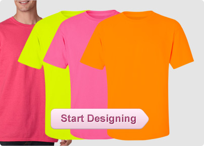 Custom neon shirts custom neon tank tops personalized for Neon coloured t shirts