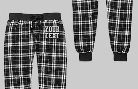 Custom Pajama Plaid Joggers