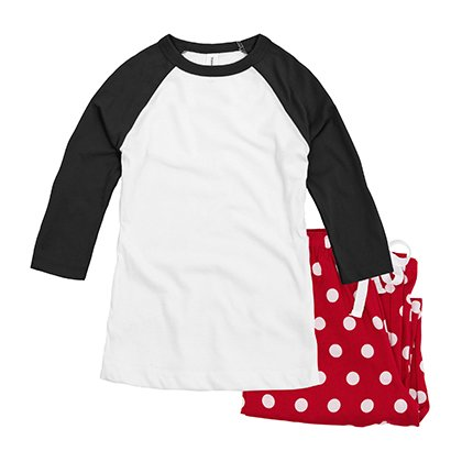Custom Pajamas Womens Raglan Set d40ae1d26