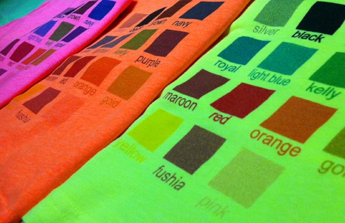 Custom Printed Neon Apparel
