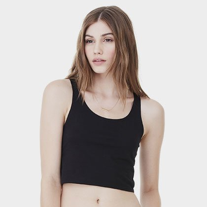 999db35102c75 Custom Slim Fit Crop Tank