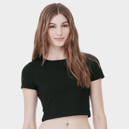 a7616c8b3b530 Custom Slim Fit Crop Top Tee
