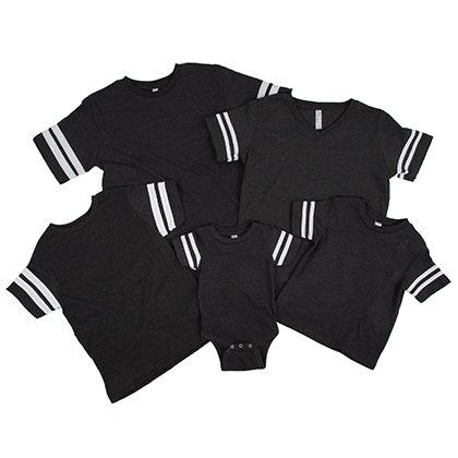 Custom Stripe Sleeve Shirt Family