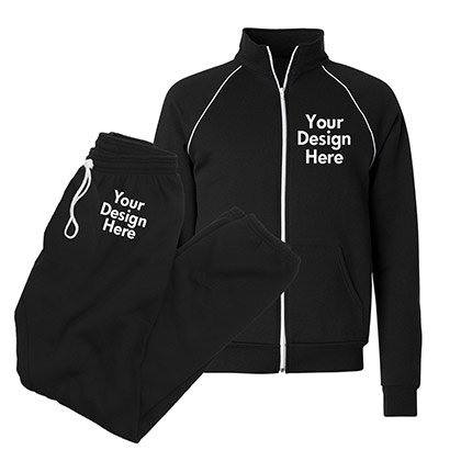 aaee029e5444 Personalize our Custom Tracksuits with Text & Art