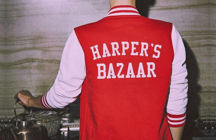 Custom Varsity Jacket Harpers Bazaar
