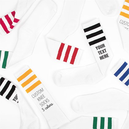 cfe1ea44e Custom socks! Add your own text and art to these personalized socks.