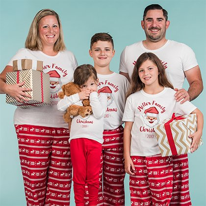 Custom Christmas Pajamas for the whole Family 656b869a7