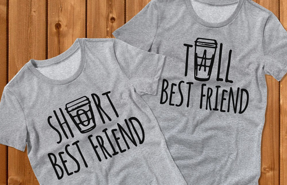 Short Tall Coffee Best Friend Shirts