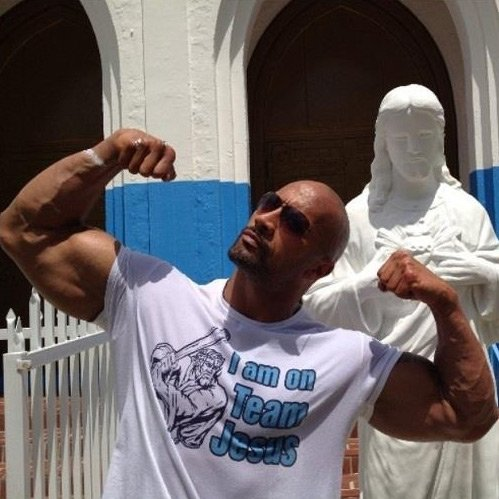 The Rock Team Jesus Tee Shirt